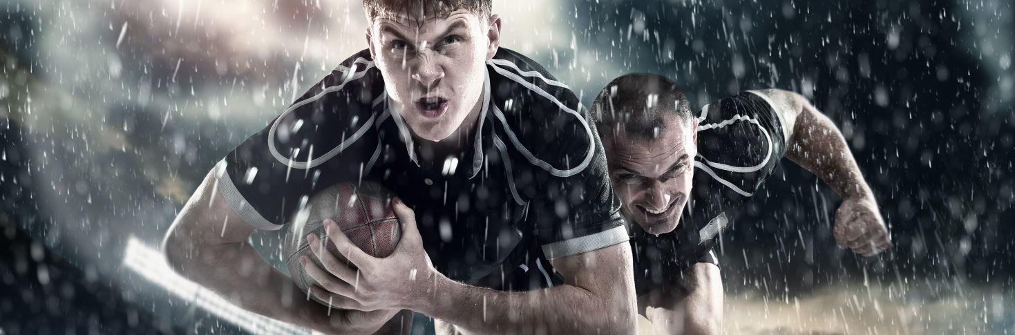Powerful Rugby Players