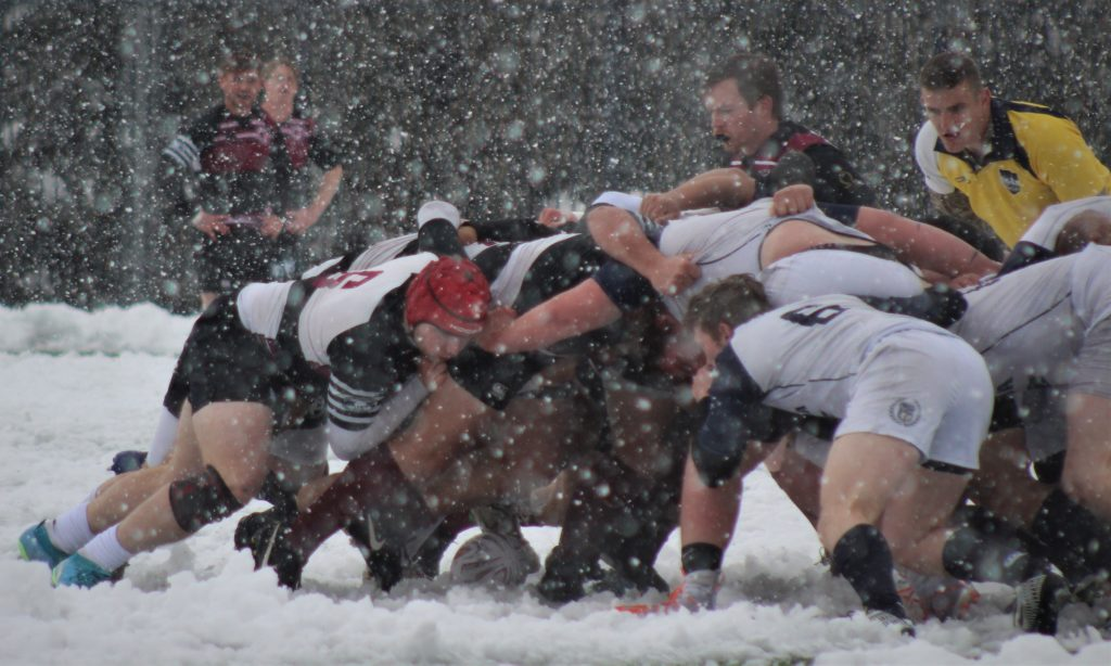 Rugby Player Rugby Photo Pushing the Scrum Snow Rugby Game Brian Cox