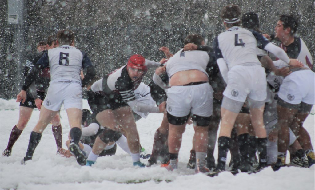 Rugby Player Rugby Photo Going for the Ball Snow Rugby Game Brian Cox