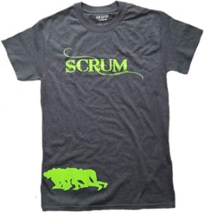 Rugby Scrum T-shirt on Amazon